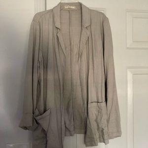 Oatmeal linen blazer